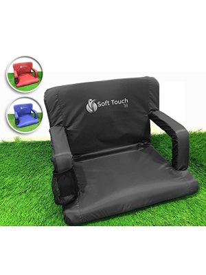 SoftTouch Stadium seats for bleachers | Stadium chairs for bleachers with back support | Bleacher seats with backs and cushion