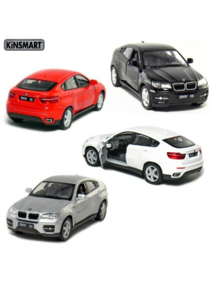 "Set of 4: 5"" BMW X6 SUV 1:38 Scale (Black/Red/Silver/White)"