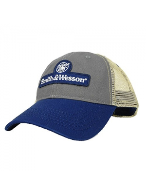 Smith & Wesson Men's Blue/Gray Patch Logo Cap