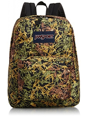 JanSport Superbreak Backpack Green Battle Ground One Size