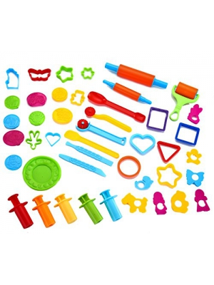 Joyin Toy 44 Pieces Clay Dough Tools Kit with Models and Molds.