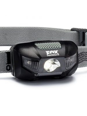 Fox Outfitters Firefly LED Headlamp - 115 Max Lumens, Super Wide Angle Beam. Waterproof Design with Red Night Vision and CREE LEDs. Energizer Batteries Included