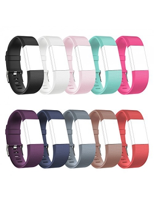 Fitbit Charge 2 Replacement Elastomer Bands, RedTaro Fitbit Charge 2 Accessories Wristbands Small Large,12 Plain Colors and much more Fashion Designs Available