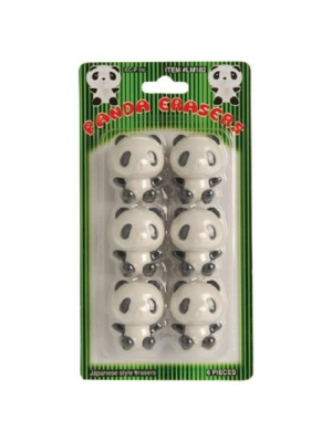 "US Toy - Black & White Panda Theme Erasers, Size 1.5"" (1-Pack of 6)"
