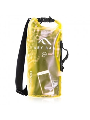 Acrodo New Waterproof Dry Bag - Transparent 10 & 20 Liter Floating Sack for Boating, Beach, Kayaking, and Sports With Shoulder Strap - Bags Keeps Personal Belongings Superdry & Protected