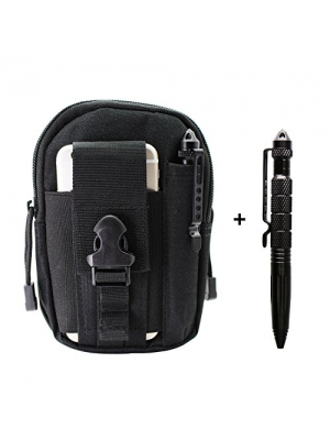 PPFISH Tactical Molle Pouch and Tactical Pen EDC Utility Gadget Belt Waist Bag with Cell Phone Holster Holder