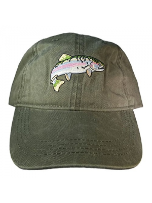 ECO Wear Embroidered Wildlife Rainbow Trout Baseball Cap
