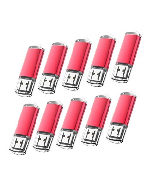 KOOTION 10PCS 4GB USB 2.0 Flash Drive Memory Stick Thumb Storage Pen Disk, Red 【Ships from USA】