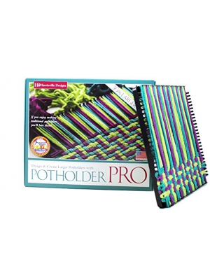 "Harrisville Designs 10"" Potholder (PRO Size) Loom Kit, Makes 2 Potholders"