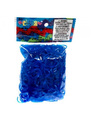 ~Brand New~ Rainbow Loom Ocean Blue Jelly Rubber Bands Refill + C-clips