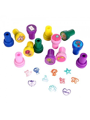 Stamps for Kids, LUCKYBIRD Best Sell Kids Stamp Set/ Heart Toy Stamp/Plastic Stamps, 26 Count
