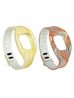 I-SMILE Newest Replacement Bands with Metal Clasps for Fitbit ZIP (No tracker, Replacement Bands Only) (Free Size)