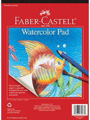 Faber-Castell Watercolor Paper Pad - 15 Sheets