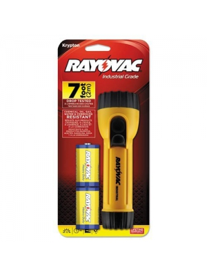 Rayovac I2D-B Yellow with Black Industrial Tough Flashlight
