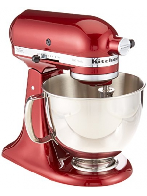 KitchenAid RRK150GD Artisan Series Stand Mixer, 5 quart, Grenadine (Certified Refurbished)