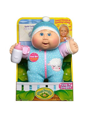 Cabbage Patch Kids Electronic 11 Deluxe Sing N' Snuggle - Blonde Girl/Blue Eyes