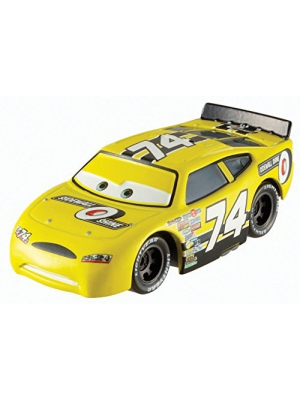 Disney World of Cars, Piston Cup Die-Cast Vehicle, Sidewall Shine No. 74 #15/16, 1:55 Scale