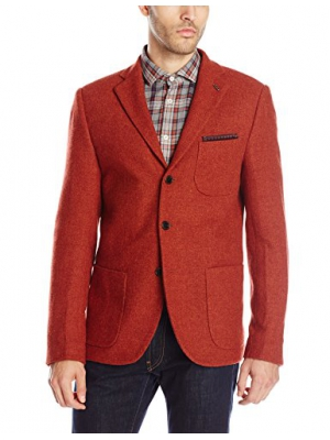Scotch & Soda Men's Wool-Blend Blazer with Printed Lining