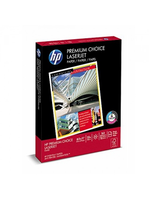HP Premium Choice Laserjet, 32lb, 8.5 x 11-inch Letter, 250 Sheets/1 Pack , (113500) Made In The US