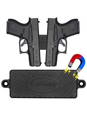 Magnetic Gun Mount Holster 43 Lbs Rated Rubber Coated Gun Magnet Mount Concealed Magnetic Holder for Handgun Rifle Shotgun Pistol Revolver Vehicle Home Office Car Truck Wall Bedside Desk