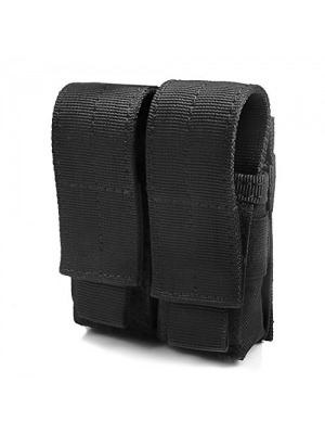 Tactical Pistol Mag Pouch (Double - Black)