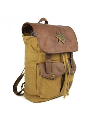 The Coop Walking Dead Rick's Sheriff Backpack-Brown