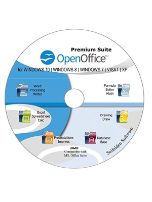 Office Suite 2018 Alternative to Microsoft Office Home Student and Business Compatible with Word, Excel and PowerPoint for Windows 10, 8.1 8 7 Vista XP by Apache OpenOfficeTM Limited Time Promotion!!