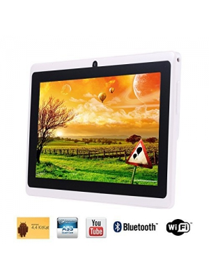 "Tagital T7X 7"" Quad Core Android 4.4 KitKat Tablet PC, Bluetooth, Dual Camera, Play Store Pre-installed, 2014 Newest Model White (Enhanced Version of A23)"