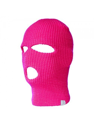 Top Headwear Three Hole Neon Colored Ski Mask -H. Pink