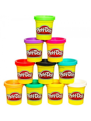 Play-Doh Modeling Compound 10-Pack Case of Colors (Amazon Exclusive), Non-Toxic, Assorted Colors, 2-Ounce Cans