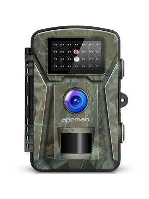 "гЂђNEW VERSIONгЂ'APEMAN Trail Camera 12MP 1080P 2.4"" LCD Game&Hunting Camera with 940nm Upgrading IR LEDs Night Vision up to 65ft/20m IP66 Spray Water Protected Design"