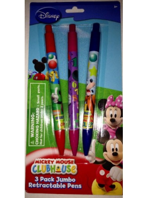 Disney Mickey Mouse Clubhouse 3 Pack Jumbo Retractable Pens
