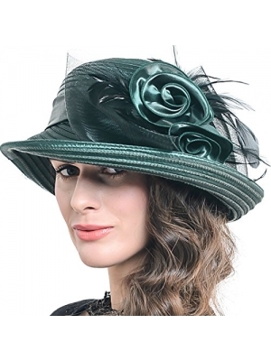Womens Asymmetry Stripe Church Derby Dress Hat S608