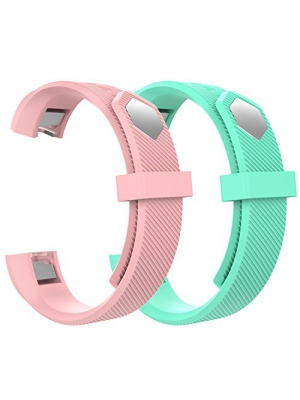 "Fitbit Alta Bands, MoKo Classic Replacement [2 PCS] Soft Wristband with Metal Clasp For Fitbit Alta/Fitbit Alta HR Smart Fitness Tracker, Fits 5.31""-8.07"" (135mm-205mm) Wrist, Soft Pink & Mint Green"