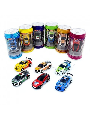 Coke cans remote control car Micro Racing Car Coke cans remote control car charging car,пј€Random Colorпј‰ (40MHZ)