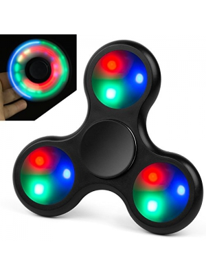 Fidget Spinner Toy Lynec Fidget Spinne LED Glowing Hand Tri-Spinner Perfect For ADD, ADHD, Anxiety, and Stress Relief