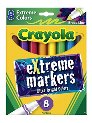 Crayola Ultra Bright Extreme Markers - Box of 8 (588175)