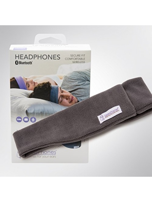 SleepPhones Wireless | Bluetooth Headphones | Ultra Thin Speakers | Lightweight & Comfortable Headband | Best for Insomnia | Includes Micro USB for Recharging | Soft Gray - Fleece Fabric