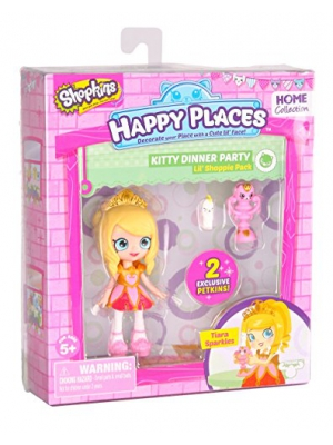 Happy Places Shopkins Single Pack Tiara Sparkles Doll