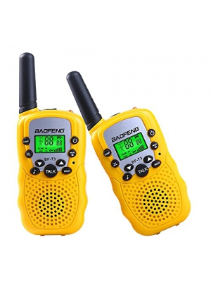 Walkie Talkies for Children Gift, Baofeng BF-T3 LED Flashlight Two-Way Radio Transceiver 2 Piece Pack 22 Channels Radio 3KM Call Range Yellow