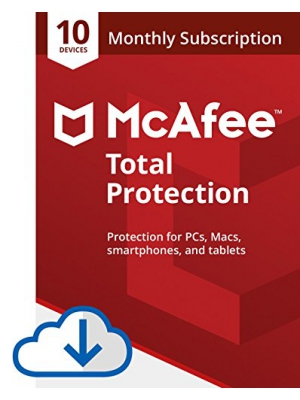McAfee Total Protection Monthly Subscription- 10 Device