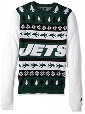 Forever Collectibles NEW YORK JETS ONE TOO MANY UGLY SWEATER