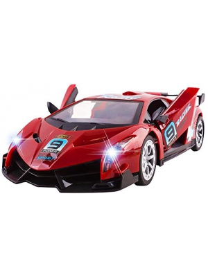 "Large 11"" Remote Control Car RC Veneno RC Car Radio Control Racing Toy Car Opening Doors w/ Button Exotic Lamborghini Sports Car, Working Headlights"