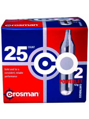 Crosman 12 Gram CO2 Cartridges (Pack of 25)