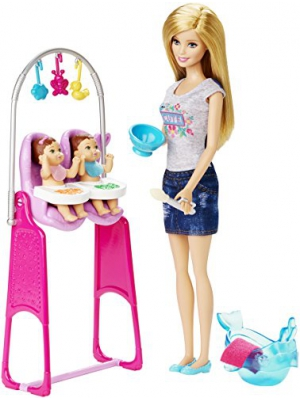 Barbie Careers Twin Babysitter Doll and Playset