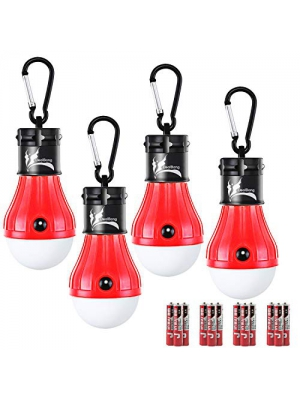 DealBang LED Tent Lights for Camping, Battery Operated Hanging Camping Light Bulbs (Batteries Inclusive)