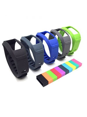 I-SMILE Replacement Bands with Metal Clasps for Garmin Vivofit 2 (No Tracker, Replacement Bands Only)