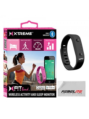 Xfit Wireless Bluetooth Activity/Fitness Tracker With Sleep Monitor - Includes 1 Colored Band in Total Works for Iphone 6, 6 Plus, 5s, 5c, 5, 4s, Samsung Galaxy S5, S4, S3, Note 2, Tab 4, Ipad 3, Ipad Air, Mini, Ipad, Ipad Retina, Ipad Touch Gen 5 or newe