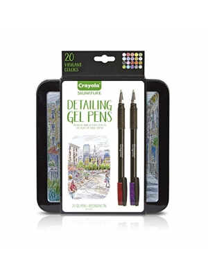 Crayola Signature Detailing Gel Pens, Metallic and Glitter, Art Set, Adult Coloring, Gift