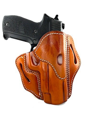 1791 GunLeather Holster for Sig Sauer P226, P220, P229 Right Hand OWB Leather Gun Holster for belts also fits 1911 with Rails, HK VP9, Beretta 92FS - Classic Brown, Stealth Black and Signature Brown